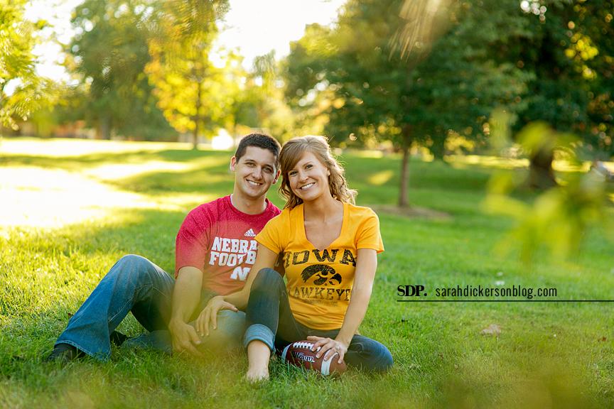 Loose Park Kansas City engagement session