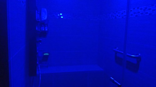 The shower in blue mode, inspired by the Blue Lagoon resort in Iceland by christopher575