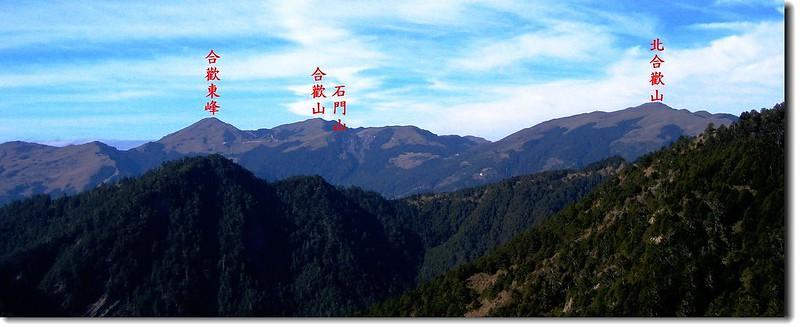 合歡群峰(From 羊頭山) 2
