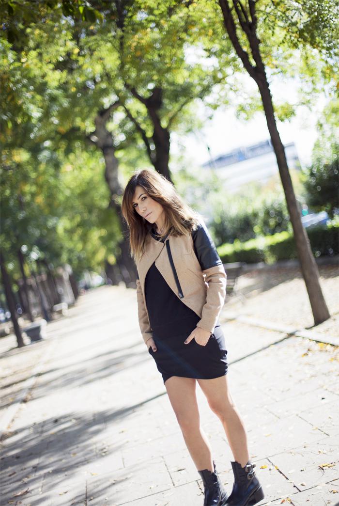 street style barbara crespo khaki sheinside jacket zara boots outfit eleven paris