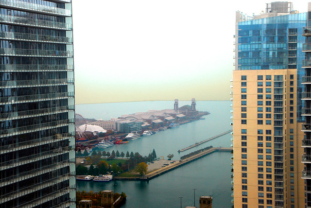 View from Aqua Building, Chicago, October 30, 2013 7-2 4x6 bp