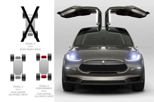 Электромобиль Tesla Model X будет только полноприводным