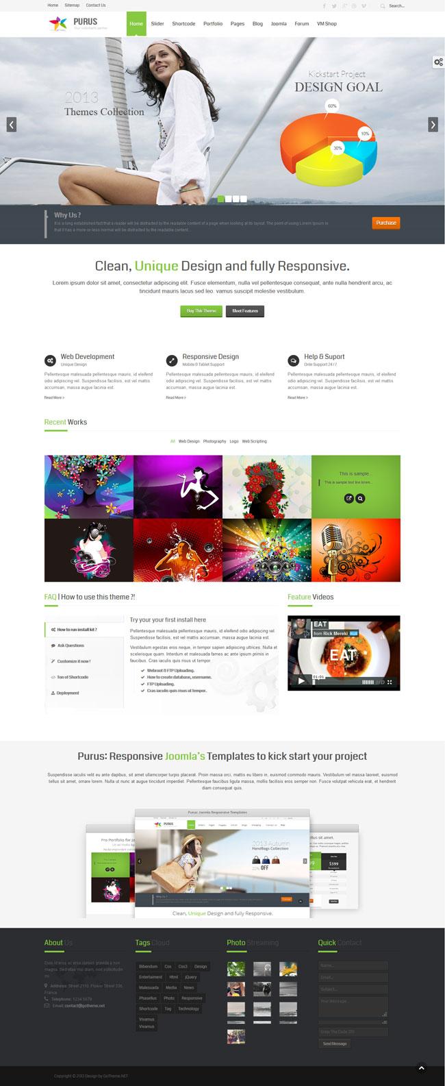 PURUS-Joomla Multipurpose Responsive Themes