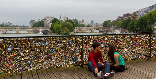 Lovelocks on the Pont des Arts