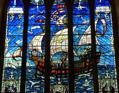 Sailing Ships in Stained Glass