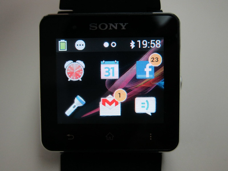 Sony SmartWatch 2 - Notification Counters