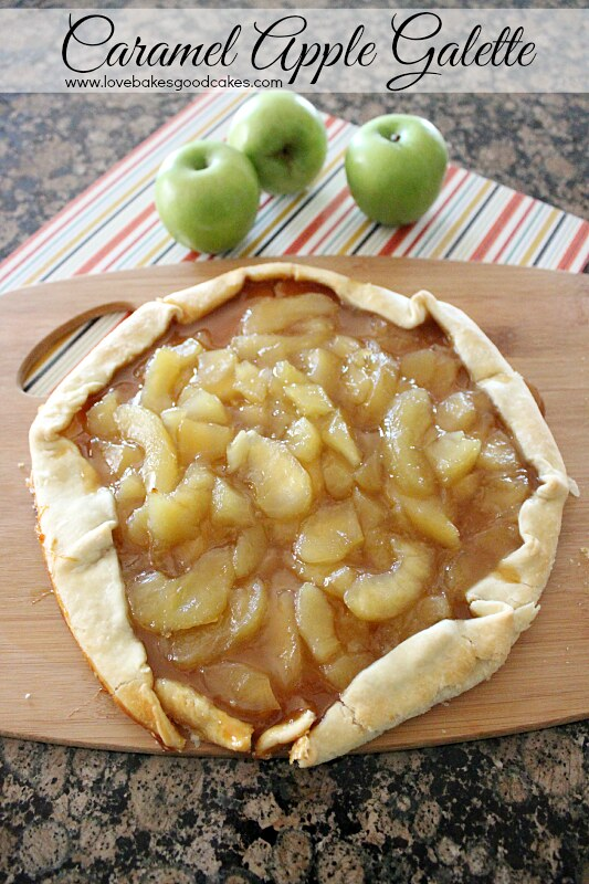 Have you finished planning what will be on your table for Thanksgiving? If you're still looking for an easy dessert idea, this Caramel Apple Galette couldn't be easier! #apples #caramel #fallbaking