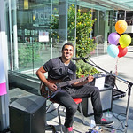 NVCL's 5th Birthday: guitarist in the Plaza