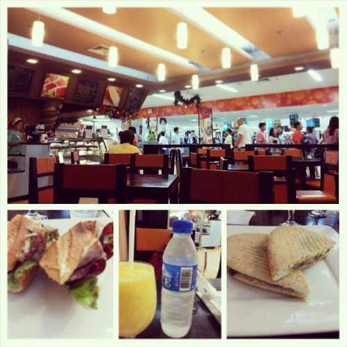 Since we were hungry, @amidala2984 and I decided to have some snacks at Metro Gourmet Cafe. Hmmm, let's just say the sandwiches we make at home are much, much better. #foodstagram #prosciutto #panini #italiansub