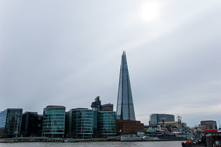 Rive Sud de la Tamise et la tour The Shard