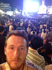Me at the Thai protests on Bangkok at the democracy monument
