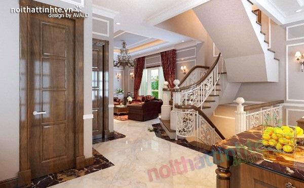 Thiết kế nội thất phong cách cổ điển mạnh mẽ