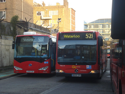 London General EB2 (507), MEC14 (521), Waterloo Depot