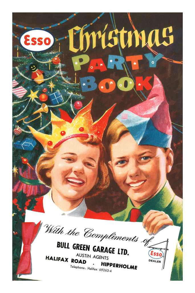 Esso Christmas Party Book - front cover - 1958