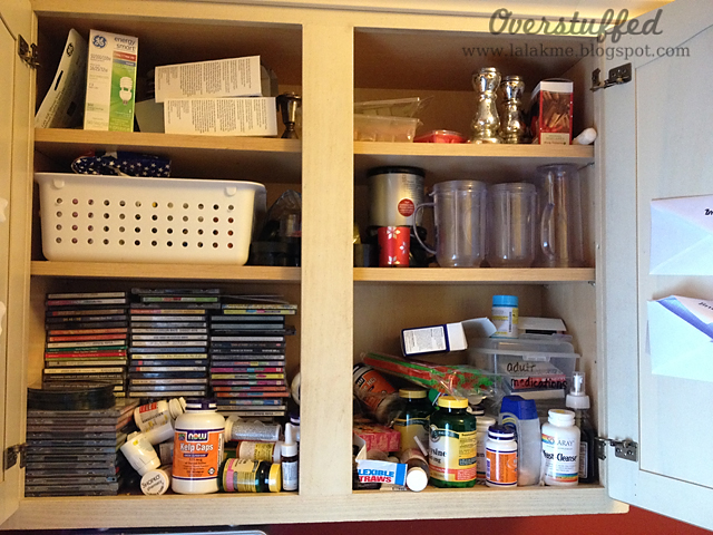 catchall cupboard before