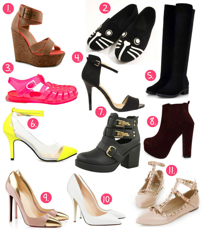 Best of ebay bargains shoes featuring items like: cat dog face flats, burgundy ankle boots, zara look a like sandals heels, sun jellies hot pink from france, neon color transparent heels shoes, valentino look a like flats with studs