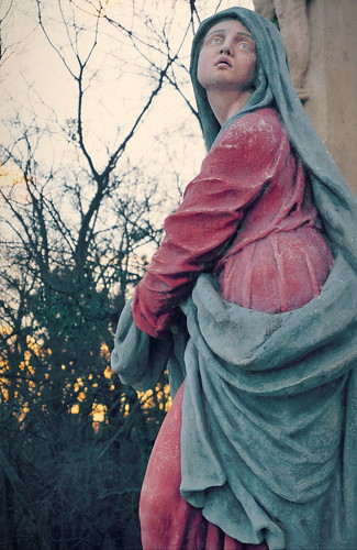 park sunset saint statue stone by hungary painted architect baroque coloured marymagdalene 1930 calvary renovated 1775 gödöllő grassalkovich schulekjános mayerhofferjános