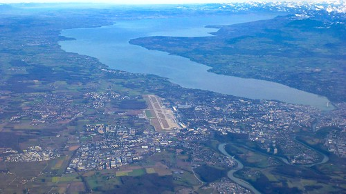 Lake Geneva, Airport and Alps