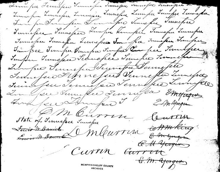 Back of Ellen Watson Estate Papers