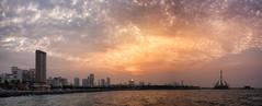 Sunset over Salmiya Beach, Kuwait