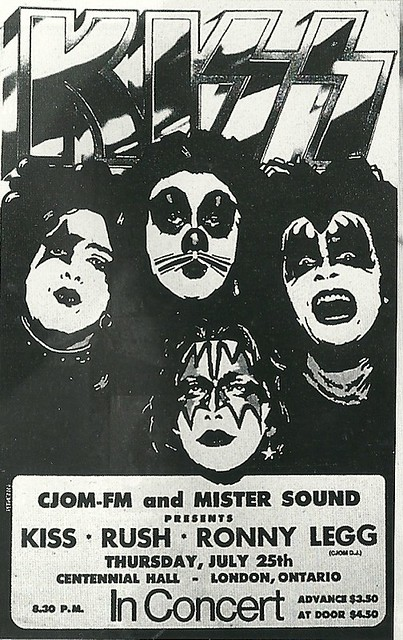 07/25/74 Kiss/ Rush/ Ronny Legg @ London, Ontario, Canada