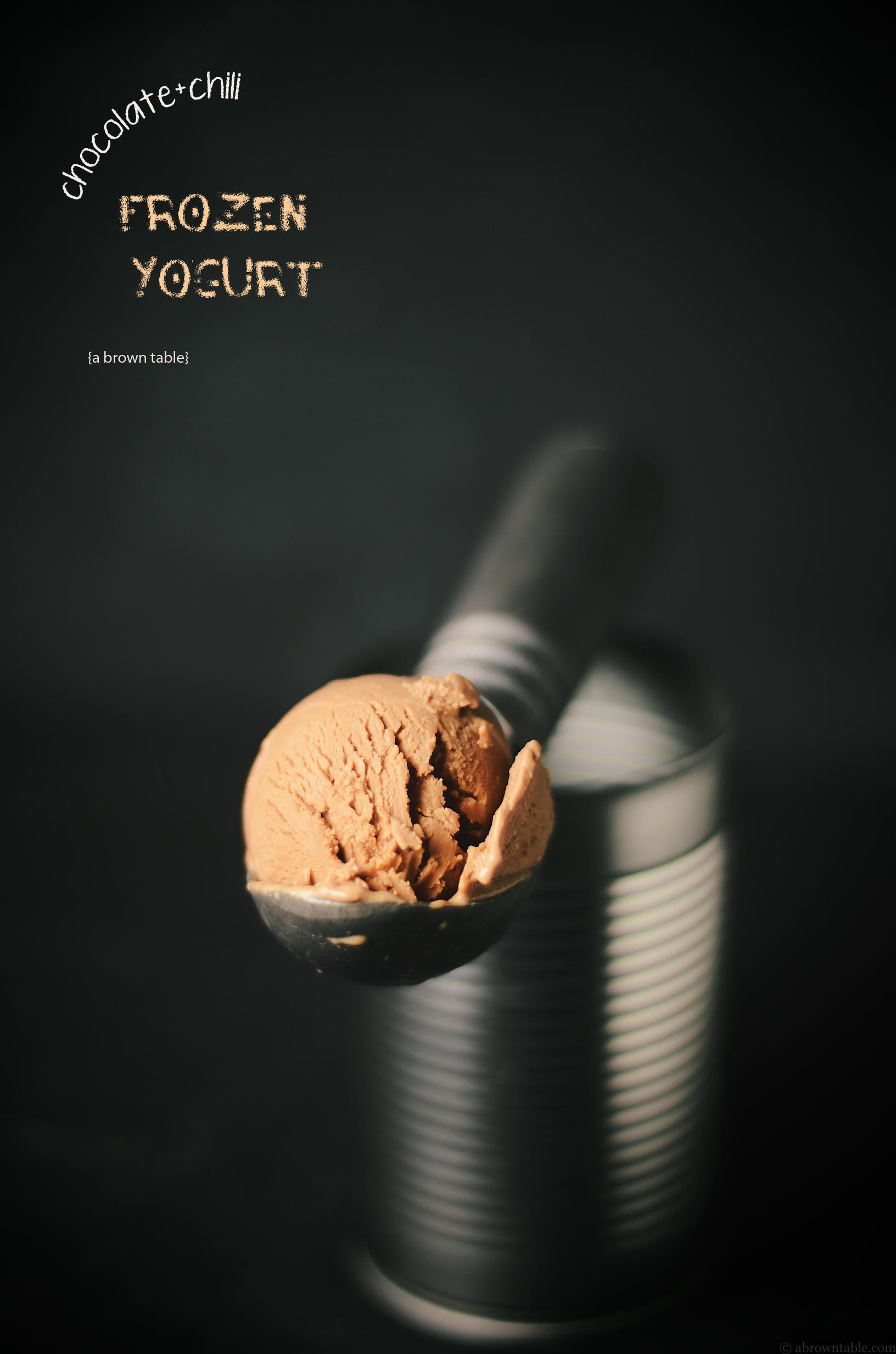 frozen chocolate chili yogurt