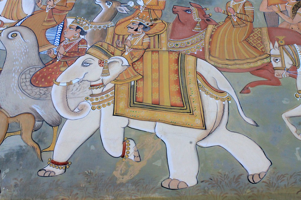 Art, elephants, colour, India