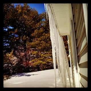 Holy #icicles batman! #winterwonderland #newengland #ice #winter