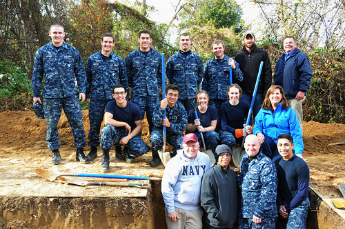 NRCS Maryland leadership joined the midshipmen for the service project. NRCS photo.