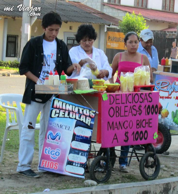 comidas callejeras colombianas. Obleas
