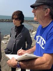 赫斯特在茄萣海邊素描地景。