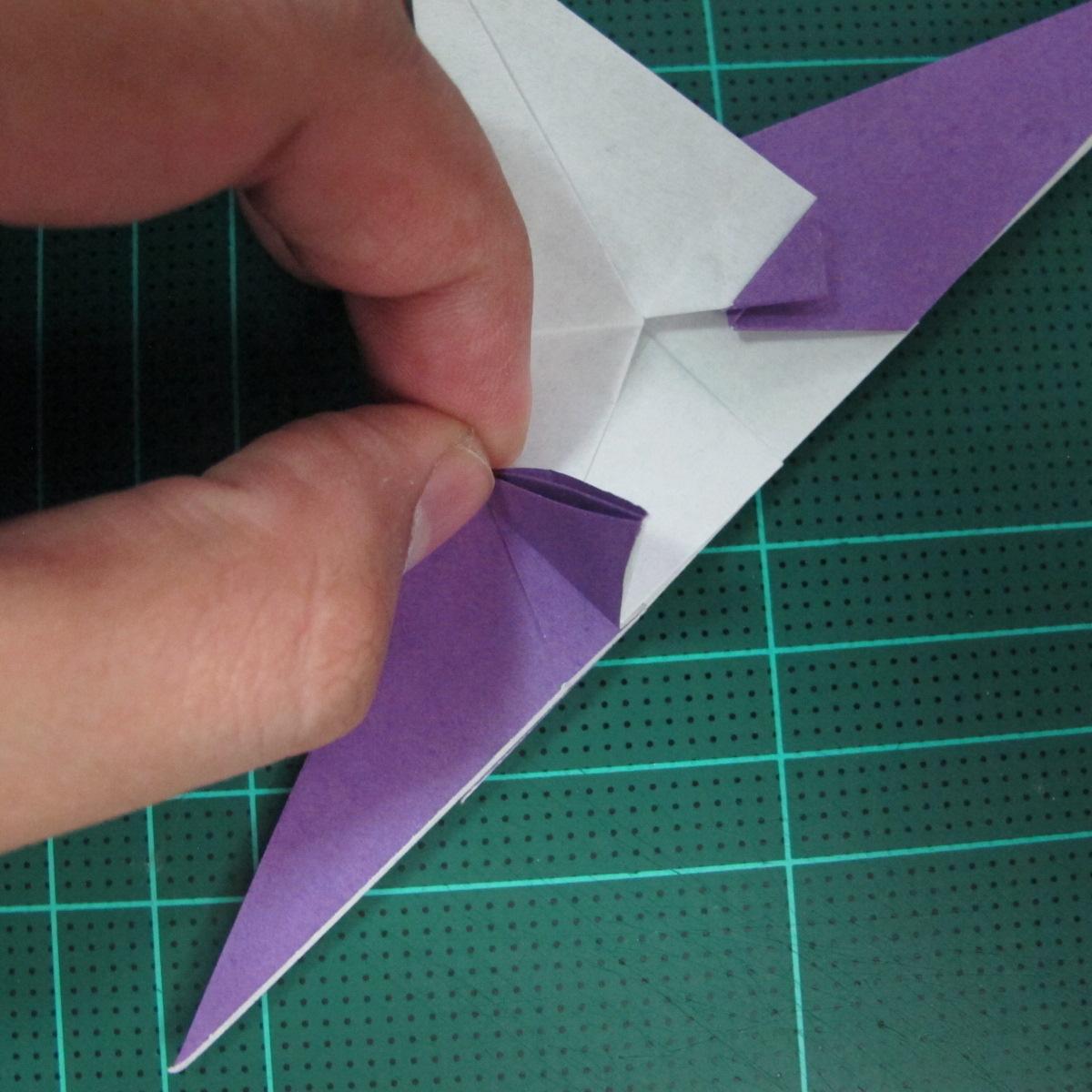 วิธีพับกระดาษเป็นรูปนกอินทรี (Origami Eagle) 021