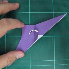 วิธีพับกระดาษเป็นรูปนกอินทรี (Origami Eagle) 013