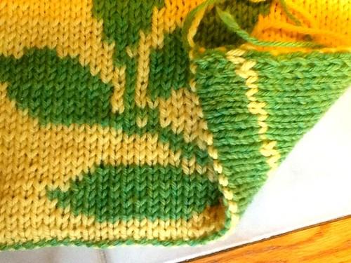 Double knitting potholder
