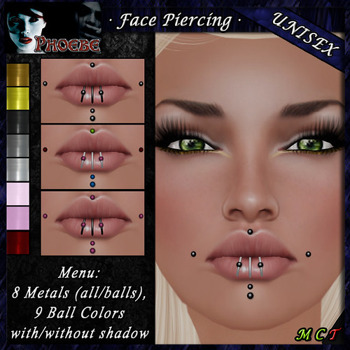 OFFER! *P* Unisex Face Piercing M4 ~8 Metals-9 Colors~