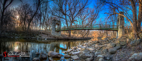bridge sunset water wisconsin architecture river landscape place hdr hoytpark photomatix menomoneeriver