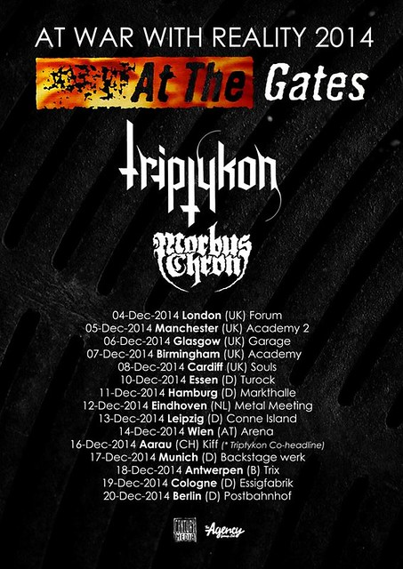 December 2014 At The Gates/ Triptykon/ Morbus Chron UK Tour