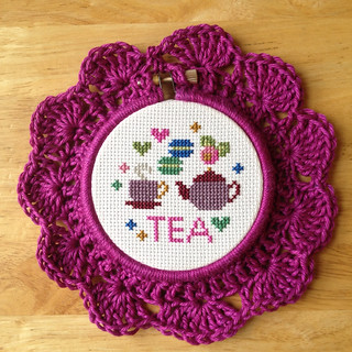 crocheted embroidery hoop!