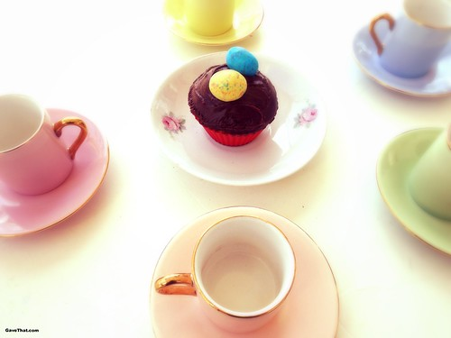 Easter Brunch with malted Robins Egg Topped Cupcakes