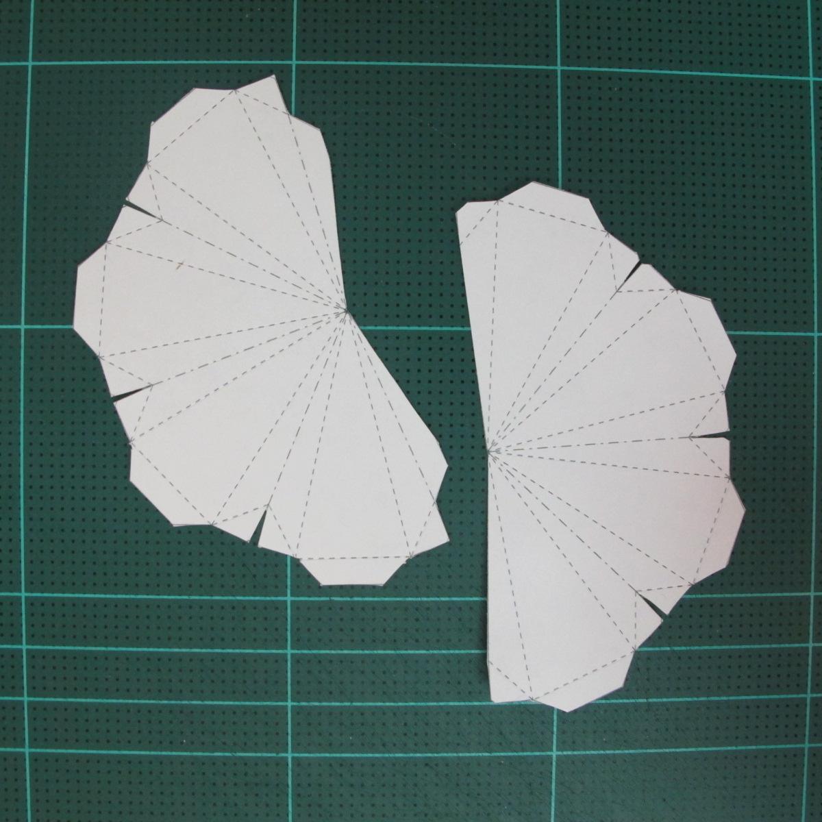 วิธีทำโมเดลกระดาษสำหรับตกแต่งทรงเรขาคณิต (Decor Geometry Papercraft Model) 002