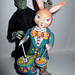Frankenstein 's Monster Easter Rabbit Tin Toy Robot  8202