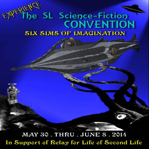 2014 SL Sci-Fi Con Squid Poster w dates