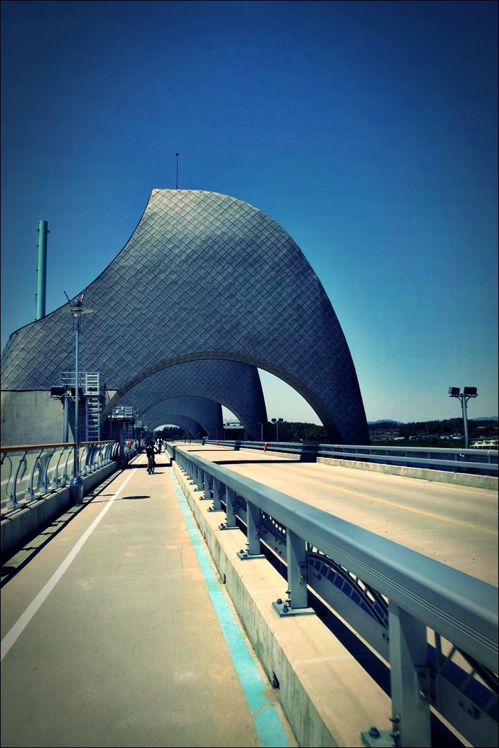 승촌보 인증센터 다리-'영산강 자전거 종주 Yeongsan_River_Bike_Riding'