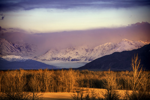Knik Glacier Sunset