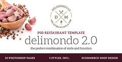 Delimondo 2.0 Photoshop Restaurant Template (Resta…