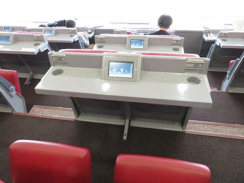 小倉競馬場の3階A指定席の座席