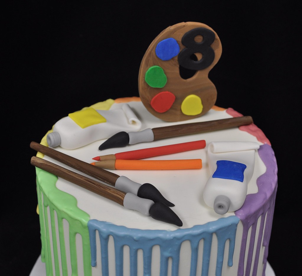 Art Themed Birthday Cake