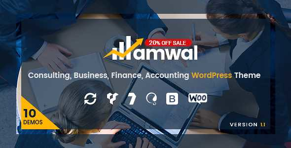 Amwal WordPress Theme free download