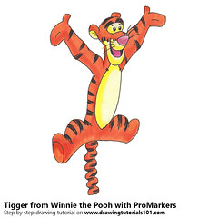 Tigger from Winnie the Pooh with ProMarkers