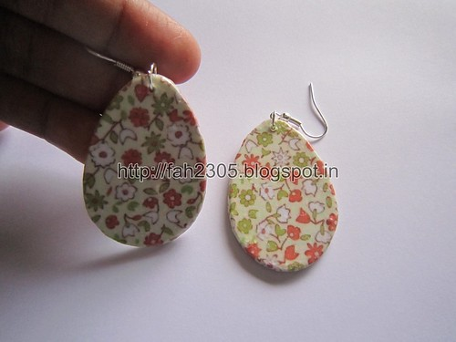 Handmade Jewelry - Card Paper Earrings  (Album 3) (2) by fah2305